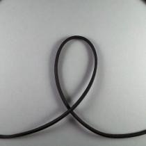 Lederband vierkant schwarz