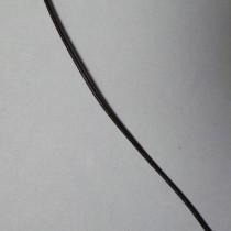 Lederband schwarz ca. 1,3mm 1m Ziegenleder