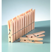 Holzklammern  72 x 10 mm 10 Stück roh