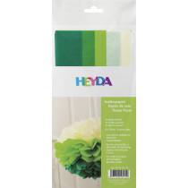 Seidenpapier Sortiment grüntöne 50x70cm 10 Bögen