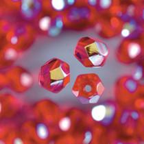 Glasfacettperlen rot