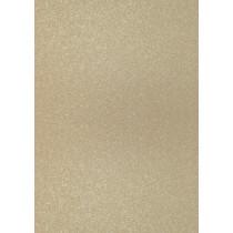 Glitterkarton A4 hellgold