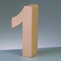 3D Papp-Zahl 17,5cm 1