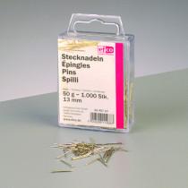 Stecknadeln vergoldet 50g 13 mm