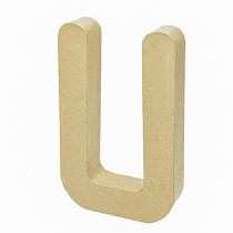 3D Dekobuchstabe aus Pappmache 17,5cm A