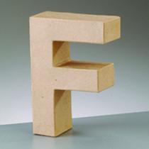 Deko Buchstabe F 10cm