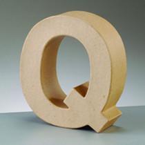 Dekobuchstabe aus Pappmache Q
