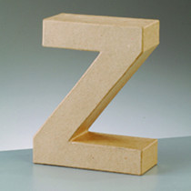 3D Deko Buchstabe Z