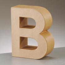 3D Dekobuchstabe aus Pappmache 17,5cm B