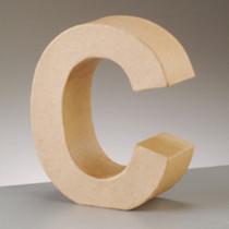 3D Dekobuchstabe aus Pappmache 17,5cm C