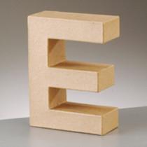 3D Dekobuchstabe aus Pappmache 17,5cm E