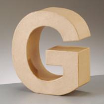 3D Dekobuchstabe aus Pappmache 17,5cm G