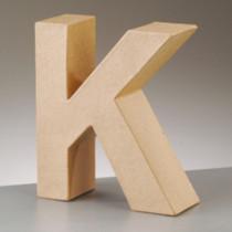 3D Dekobuchstabe aus Pappmache 17,5cm K