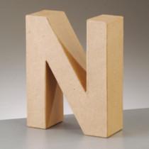 3D Dekobuchstabe aus Pappmache 17,5cm N