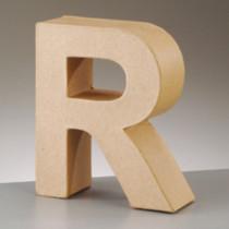 3D Dekobuchstabe aus Pappmache 17,5cm R