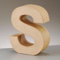 3D Dekobuchstabe aus Pappmache 17,5cm S