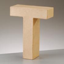 3D Dekobuchstabe aus Pappmache 17,5cm T