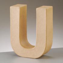 3D Dekobuchstabe aus Pappmache 17,5cm U