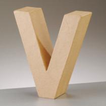 3D Dekobuchstabe aus Pappmache 17,5cm V