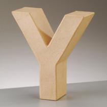 3D Dekobuchstabe aus Pappmache 17,5cm Y