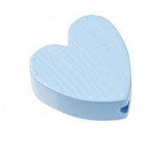 Schnullerketten Perle Herz hellblau