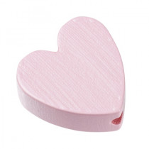 Schnullerketten Perle Herz rosa