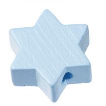 Schnullerketten Perle Stern hellblau
