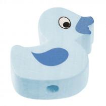 Schnullerketten Perle Ente hellblau