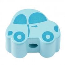 Schnullerketten Perle Auto hellblau