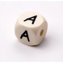 Schnullerketten Buchstabenwürfel A