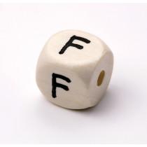 Schnullerketten Buchstabenwürfel F