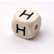 Schnullerketten Buchstabenwürfel H
