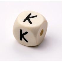Schnullerketten Buchstabenwürfel K