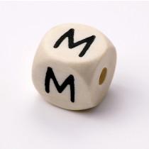 Schnullerketten Buchstabenwürfel M