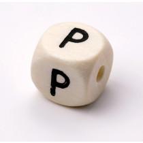 Schnullerketten Buchstabenwürfel P