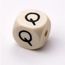 Schnullerketten Buchstabenwürfel Q