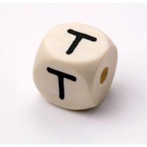 Schnullerketten Buchstabenwürfel T