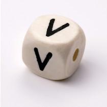 Schnullerketten Buchstabenwürfel V