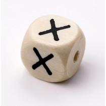 Schnullerketten Buchstabenwürfel X