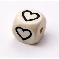Schnullerketten Buchstabenwürfel Herz