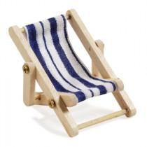 Mini-Liegestuhl blau weiß gestreift