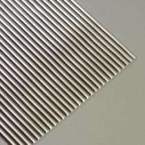 Wachsstreifen rund 200 x 3 mm 19 Stück silber glänzend