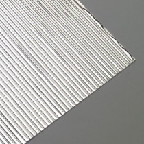 Wachsstreifen flach 200 x 1 mm 30 Stück silber glänzend
