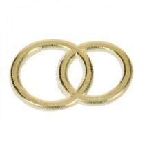 Wachsdekor Eheringe gold glänzend 3cm 1 Stk.