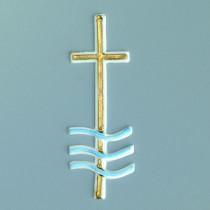 Verzier-Wachsdekor Taufkreuz