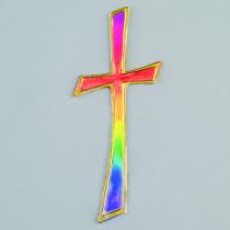Wachs Kreuz regenbogen