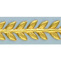 Wachsdekor Borte Blätter 180 x 7mm 1 Stk. gold