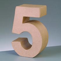3D Papp-Zahl 17,5cm 5