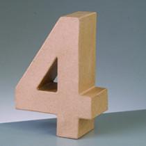 3D Papp-Zahl 17,5cm 4