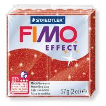 Modelliermasse FIMO® Effect glitter rot 57g
